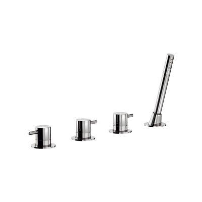 wannenrandarmatur 4 loch f r einlauf ber excenter dusche. Black Bedroom Furniture Sets. Home Design Ideas