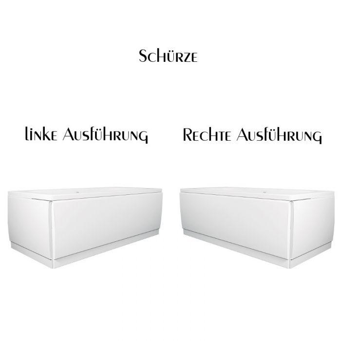 Badewanne 160x70 Cm Asuan Acryl Rechteckbadewanne