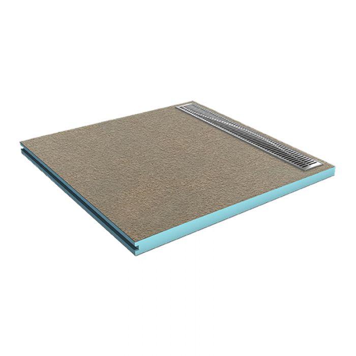 befliesbares duschboard 90x90 cm mit rinne 80 cm lang. Black Bedroom Furniture Sets. Home Design Ideas