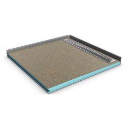 befliesbares duschelement mit rinne von dusche. Black Bedroom Furniture Sets. Home Design Ideas